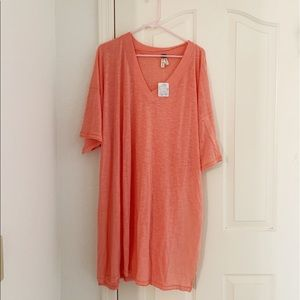 NWT Free People Coral City Slicker Tunic